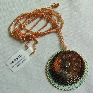 Multi Filigree Color Discs Necklace